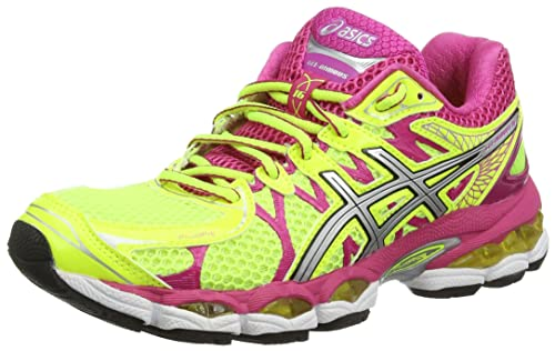 ASICS Gel-Nimbus 16 - Zapatillas de deporte para mujer, color amarillo (Flash Yellow / Silver / Hot Pink 793), talla 36 EU: Amazon.es: Zapatos y ...