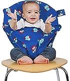 Mobiseat Mobiler Kindersitz blau mit Eulen
