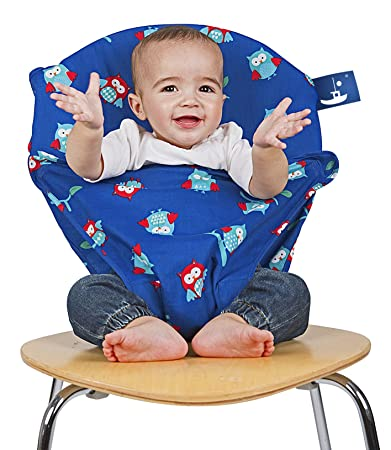 5878d3cf50c6c Amazon.com   Totseat Chair Harness - Portable Travel High Chair in Night  Owl   Baby