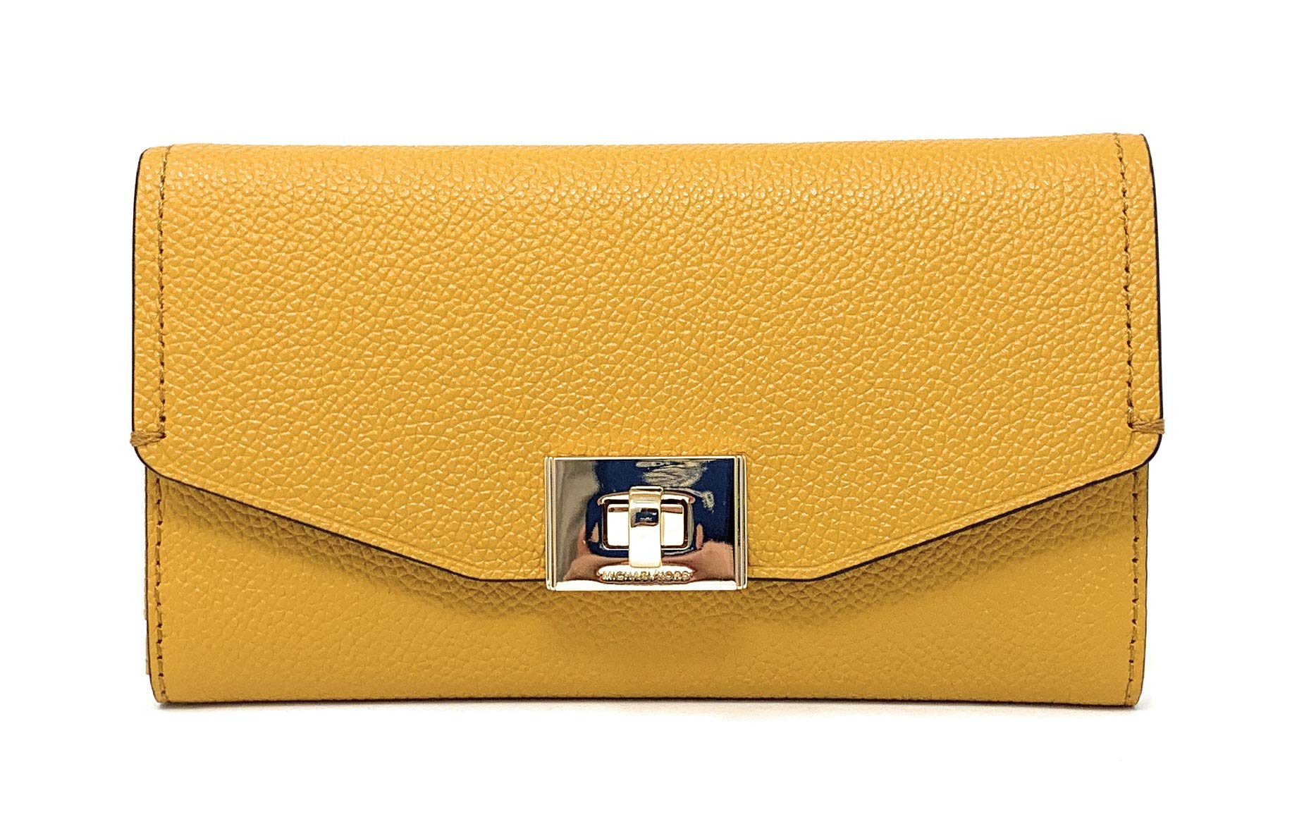 Michael Kors Cassie Large Trifold Wallet (Marigold)