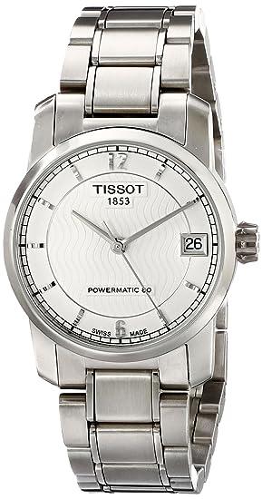 TISSOT RELOJ DE MUJER AUTOMÁTICO 32MM CORREA DE TITANIO T0872074403700: Tissot: Amazon.es: Relojes
