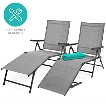 Best Choice Products Outdoor Patio Pool Lounge Chairs