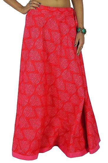 fb76faaca2d2bd Swara Coton Femmes Floral Vêtements d'impression Jupe Plage Boho ...