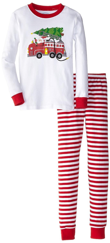 Sara's Prints Boys' Long John Pajamas 1010