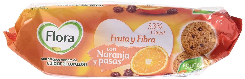 Flora - Galletas Fruta-Fibra Naranja, 125 g - [Pack de 8]: Amazon.es: Alimentación y bebidas