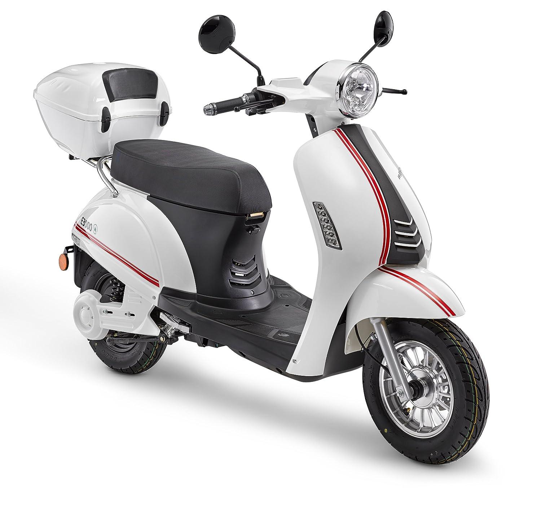 Elektroroller LuXXon E3000 - Elektro Scooter mit 3000 Watt, max. 45 km/h, Reichweite bis zu 60 km, weiß Karcher