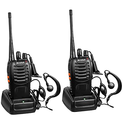 Arcshell Rechargeable Long Range Two-Way Radios with Earpiece 2 Pack UHF 400-470Mhz Walkie Talkies Li-ion Battery and Charger Included: Car Electronics
