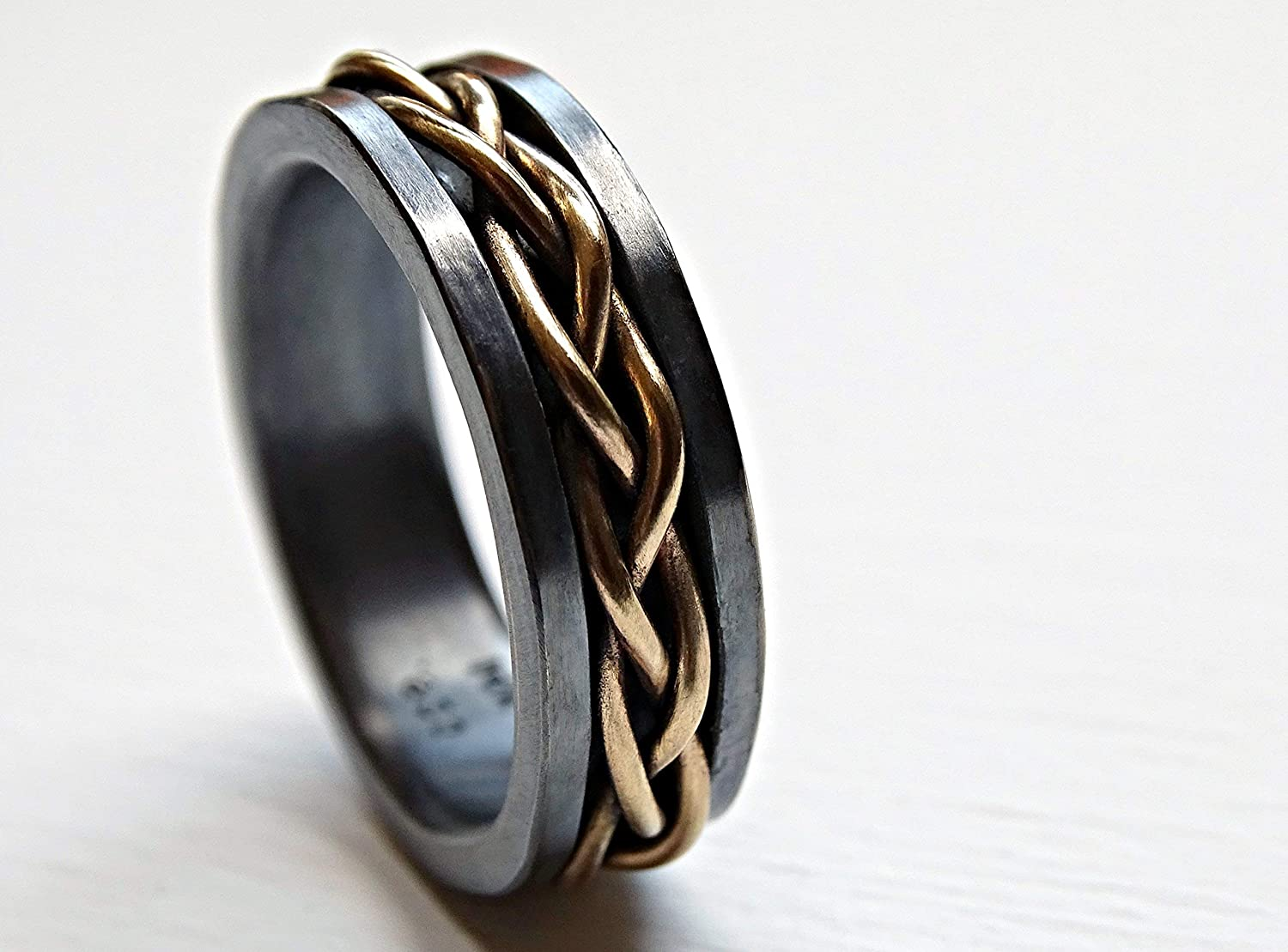 It is an image of Amazon.com: mens wedding band viking, celtic wedding ring gold