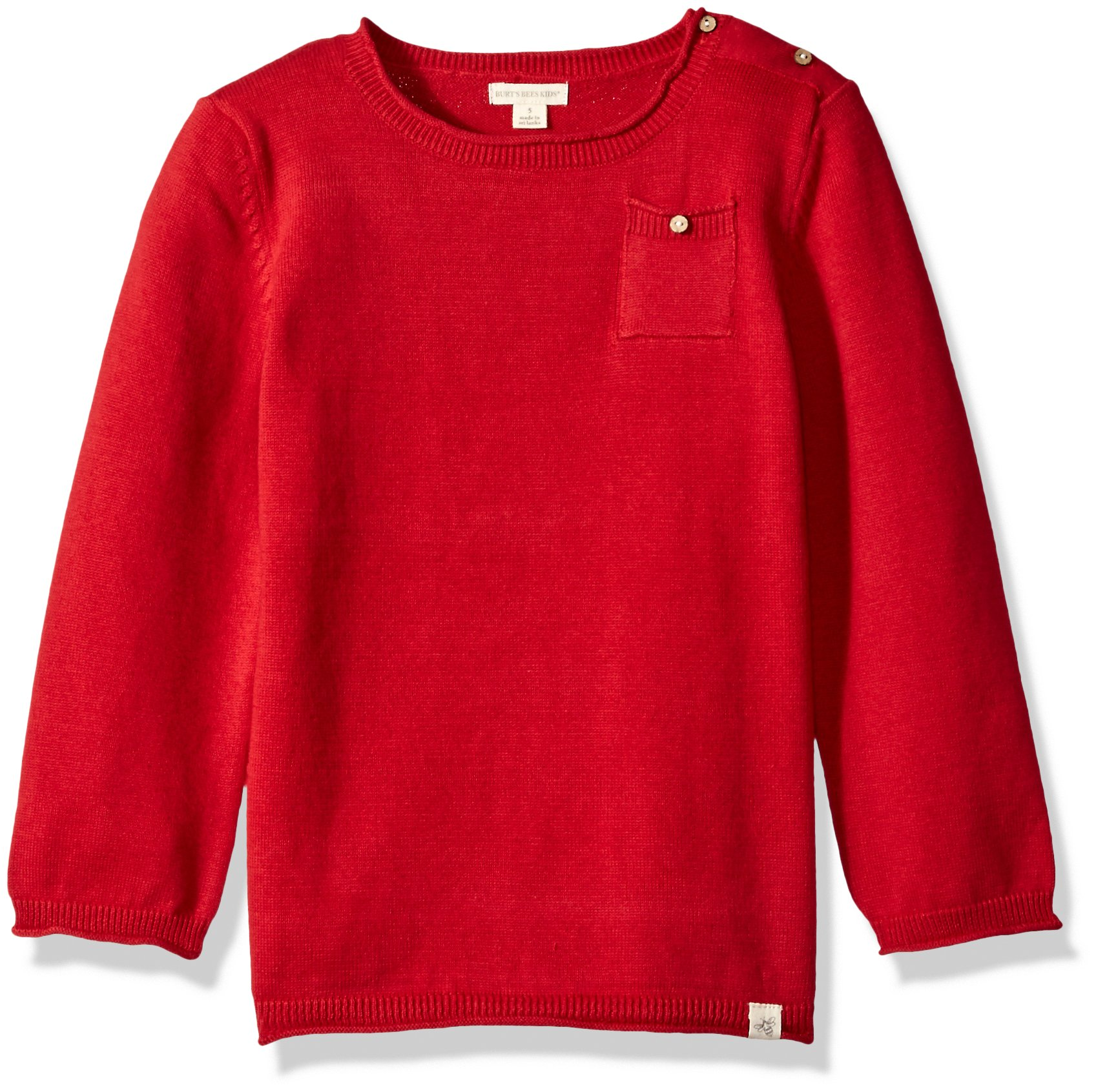 Burt's Bees Baby Unisex Baby Sweatshirts, Lightweight Zip-Up Jackets & Hooded Coats, Organic Cotton, Cranberry Sweater, 7 Years by Burt's Bees Baby