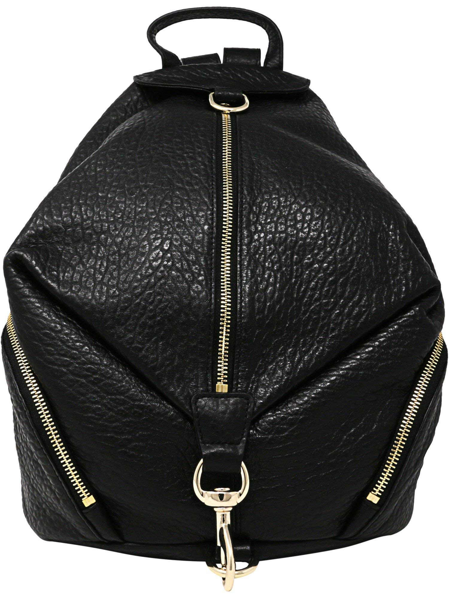 Rebecca Minkoff Julian Gold Hardware Back pack, Black, One Size