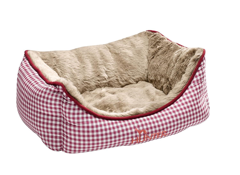 HUNTER Perro sofá Astana con Peluche, pequeñas, 60 x 45 cm, Color Rojo: Amazon.es: Productos para mascotas