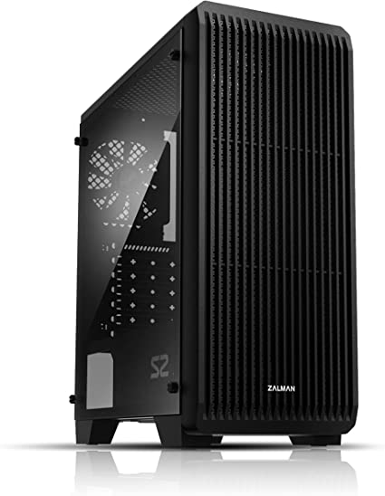 Amazon.com: Zalman S2 ATX Mid Tower Computer/PC Case with Full Acrylic Tinted Side Panel, Three 120mm Fan Pre-Installed, Black: Electronics
