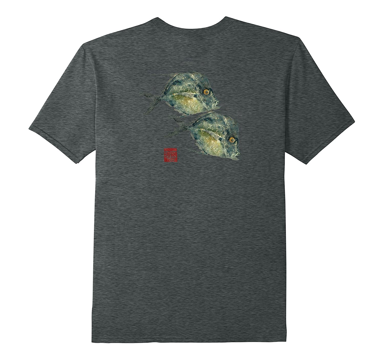 Fish print gyotaku florida lockdown t shirt art artshirtee for Fish print shirt