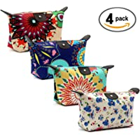 HOYOFO Women's Travel Cosmetic Bags Small Makeup Clutch Pouch Cosmetic and Toiletries Organizer Bag (Y set)
