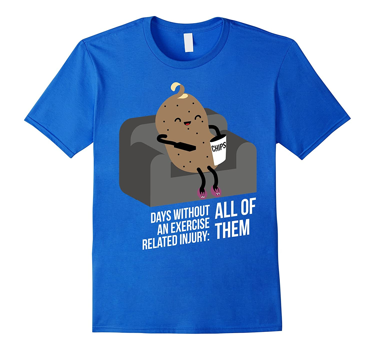 Couch Potato - safety first funny t-shirt-RT