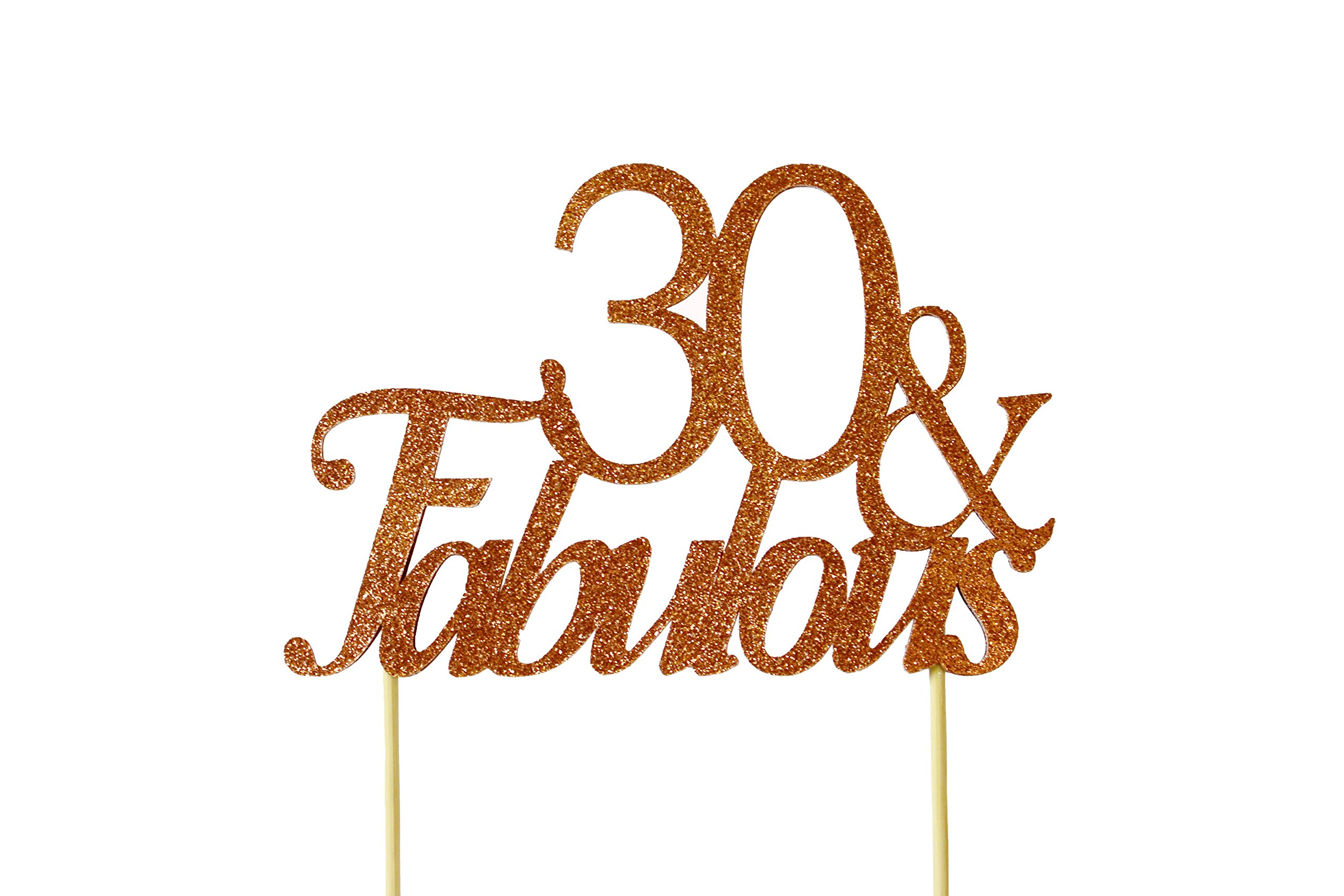 All About Details Copper 30-&-fabulous Cake Topper