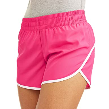 d8c81e06454 Athletic Works Women s Core Active Dolphin Hem Woven Running Shorts with  Hidden Liner (Fuchsia Burst