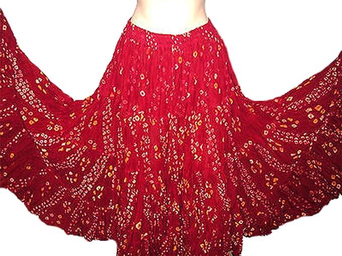 Polka Dot 25 Yard Yards Tribal Gypsy Baumwolle Bauch Tanzen Tanz Rock  (Henna): Amazon.de: Bekleidung