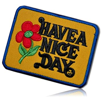Amazon com: Have A Nice Day Smiley Smiling Happy Funny Face Floral