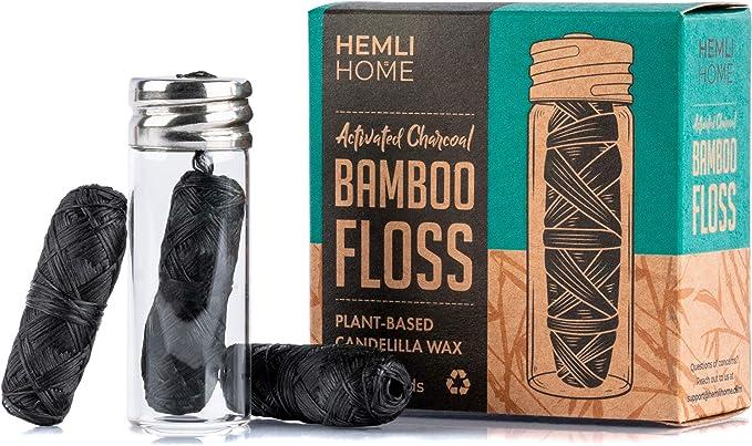 Hemli Home Bamboo Charcoal Floss
