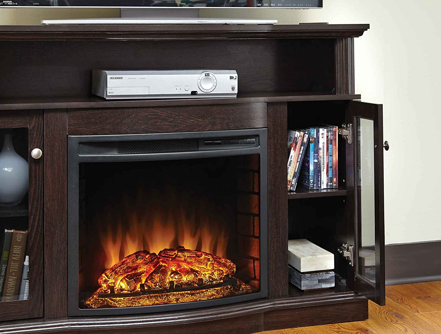 amazon com pleasant hearth 248 44 34m elliot media fireplace