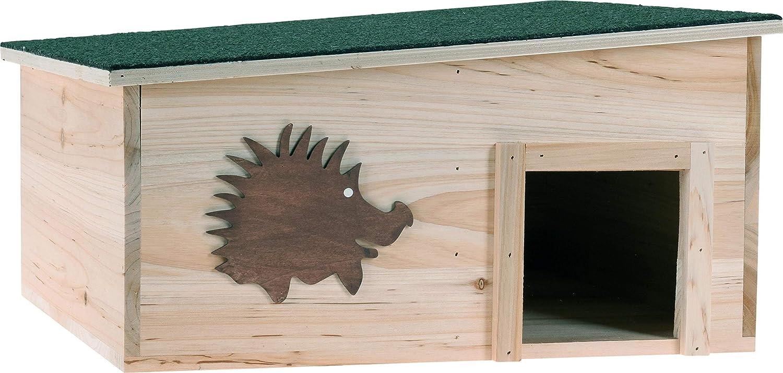 Igelhaus mit Zwei Zimmern Igelholzhaus Igelh/ütte Igelnest Igelh/ütte 37x37x18cm