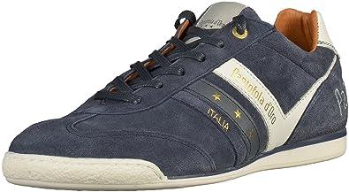 Uomo blu Pantofola d`Oro Pelle Sneakers alte dress blues