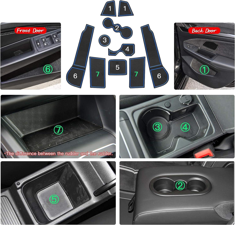 Ruiya Golf 8 Mk8 2020 Antirutschmatten Gummimatte Auto Innere Für Mittelkonsole Aus Hochwertigem Latex Geeignet Blau Auto