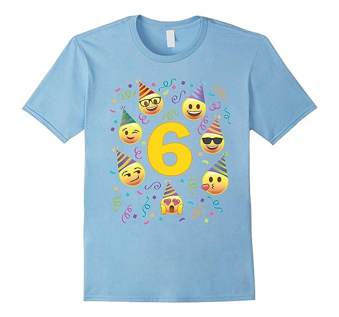 Amazon Emoji Birthday Shirt For 6 Six Year Old Girl Boy Party