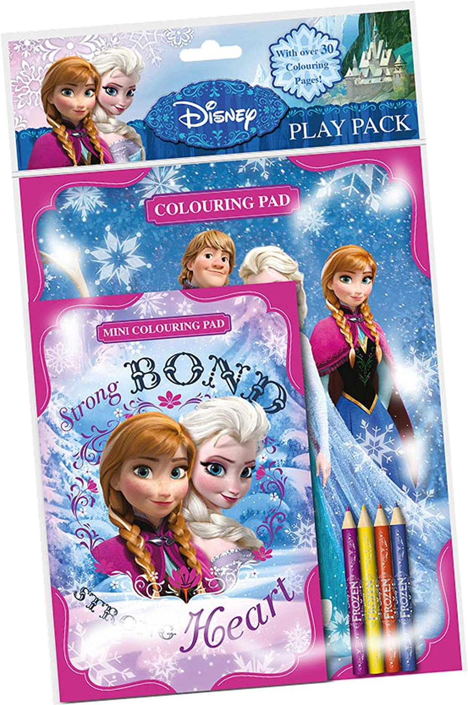 Disney Frozen - Set 2 Cuadernos para Colores con lápices, 27 x 21 cm (Kids FNPPK): Amazon.es: Juguetes y juegos