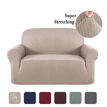Amazon Com Sofa Slip Cover T Cushion For Leather Stretch Sofa Cover