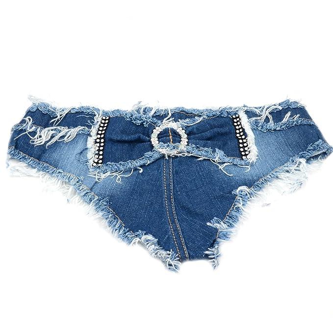 nuovo prodotto e0d4c f8f17 Donna Denim Sexy Shorts Jeans Vita Bassa Pantaloni Hot Pants