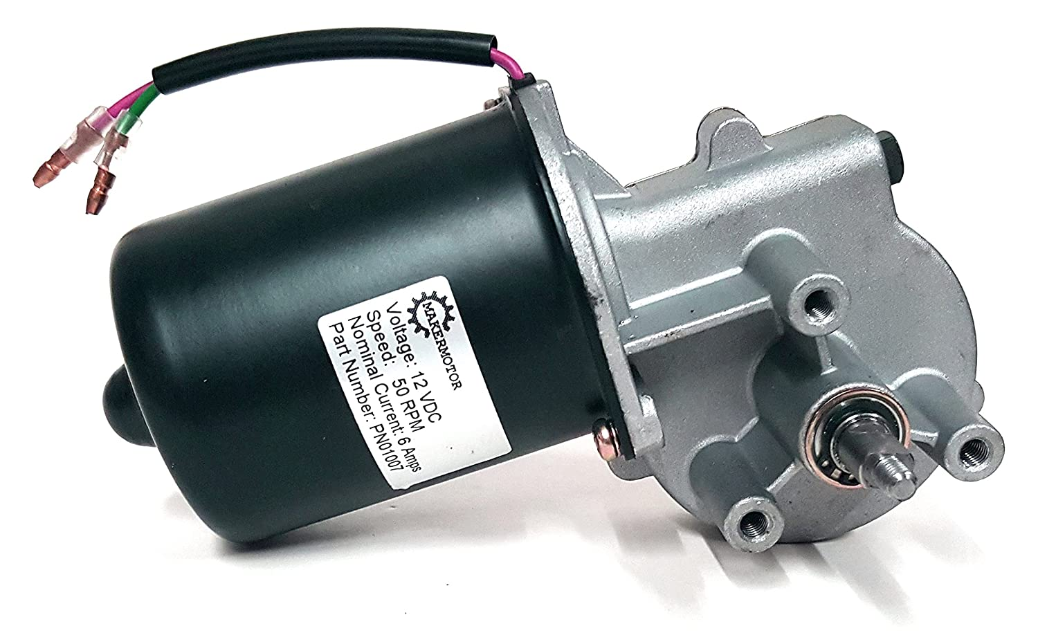 electric motor. Makermotor 10mm 2-flat Shaft 12V DC Reversible Electric Gear Motor 50 RPM - Amazon.com