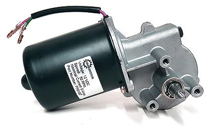 Makermotor 10mm 2-flat Shaft 12V DC Reversible Electric Gear Motor 50 RPM