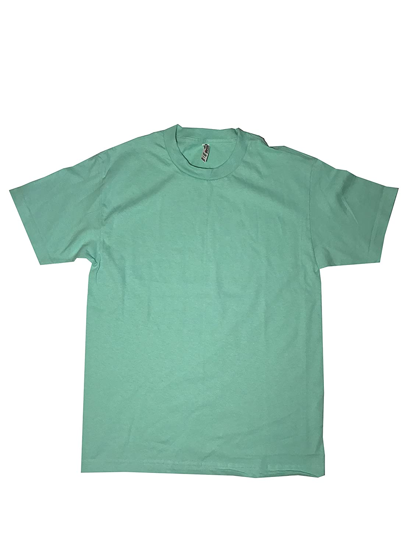 Mint Large Wanna Be J Alstyle Men's Classic Cotton Crew Neck Short Sleeve Pre Shrunk TShirt