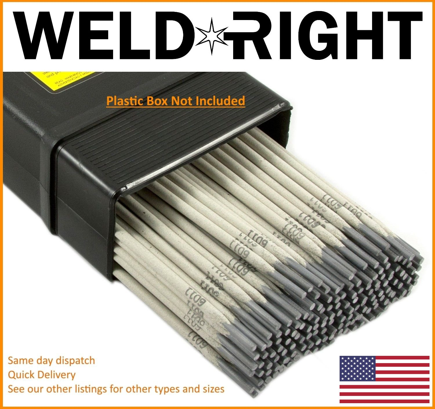 Weld Right General Purpose E6013 Arc Welding Electrodes Rods 1/16's - 1.6mm x 10-100 Qtys Weldright