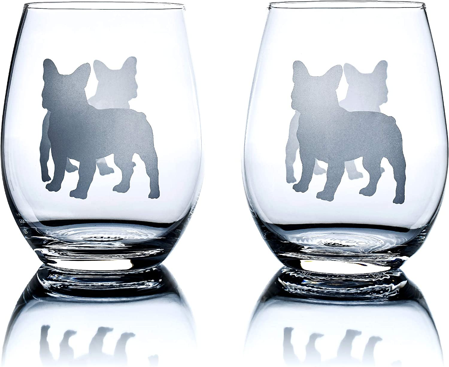 French Bulldog Wine Glasses Set of 2 Max 68% OFF for Today's only Unique Lovers Dog