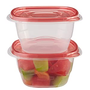 Rubbermaid TakeAlongs Deep Square Food Storage Containers, 5.3 Cup, 2 Count FG7F6800FCLR