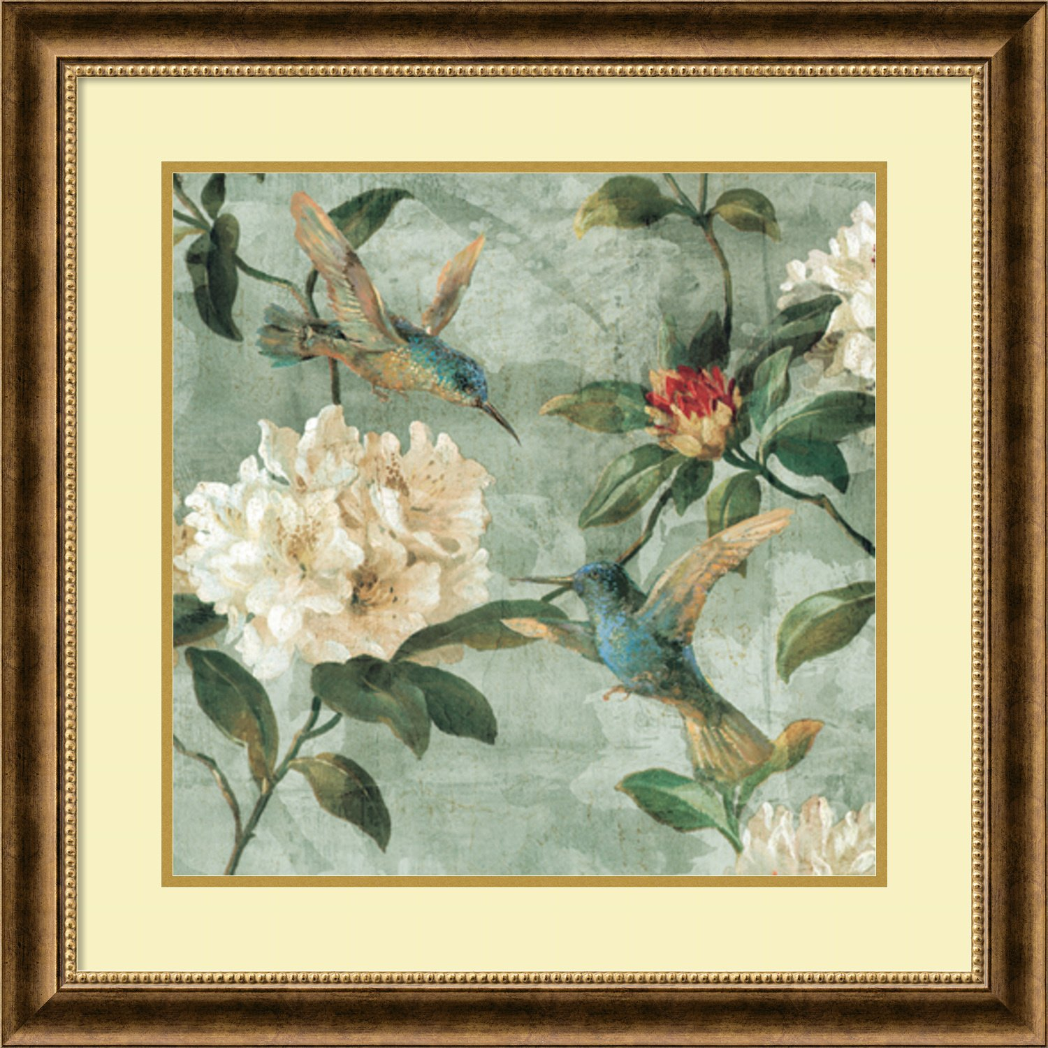 Framed Art Print, 'Birds of a Feather I' by Renee Campbell: Outer Size 29 x 29''