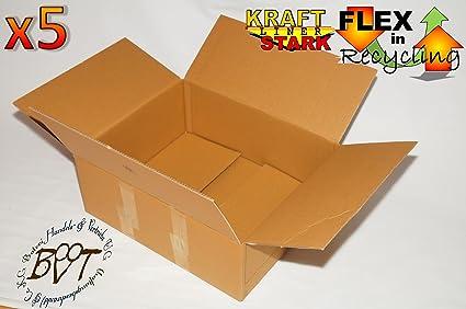5 x Premium cartón de 62 cm x 40 cm x 23,5 cm – Paquete de