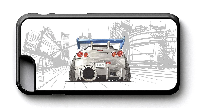 KOOLART kruzroyal caricatura de Nissan Skyline trasera - iPhone 6/6S caso: Amazon.es: Electrónica