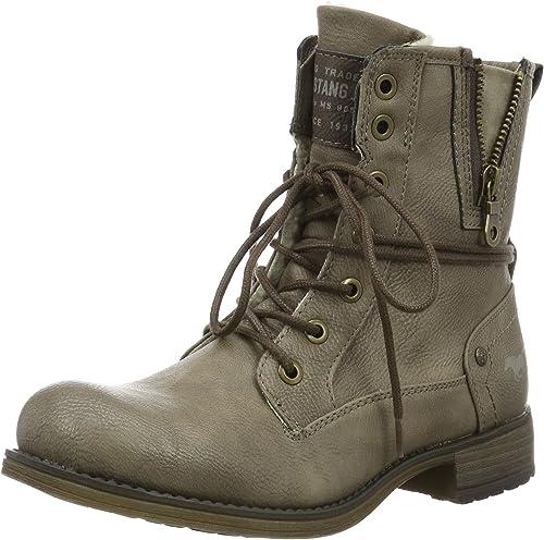 Mustang Shoes Boots in Übergrößen Taupe 1139-624-318 große Damenschuhe