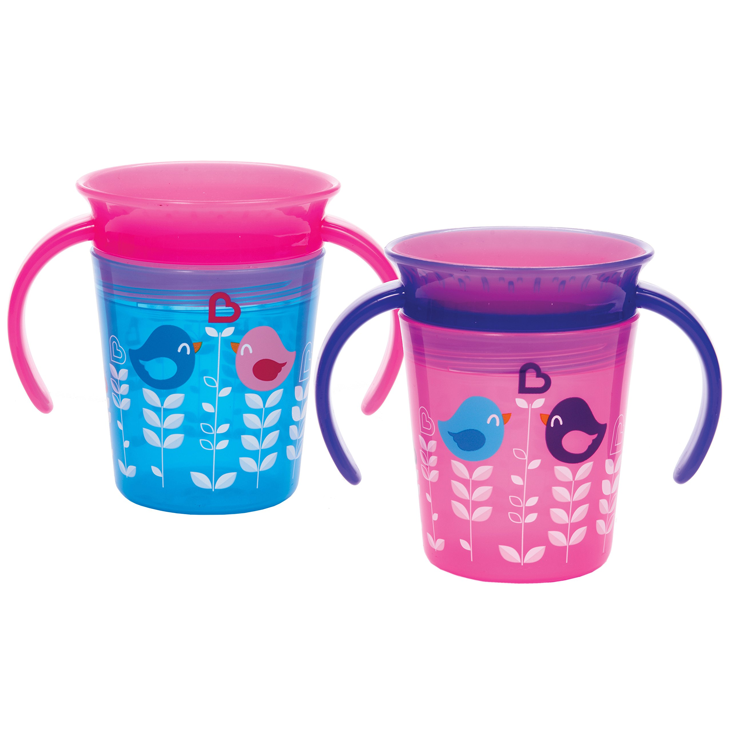 Munchkin Miracle 360 Trainer Cup, Pink/Blue, 2 Count by Munchkin