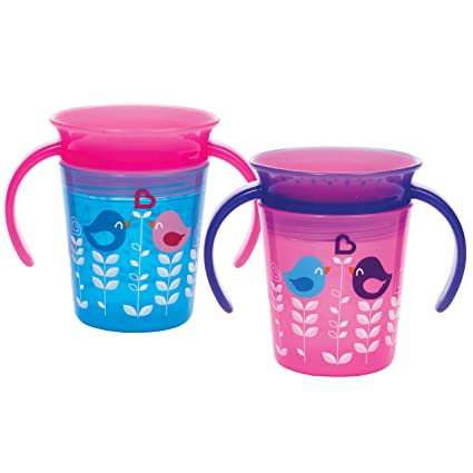 Two Pink Munchkin Miracle 360 Sippy Cups New