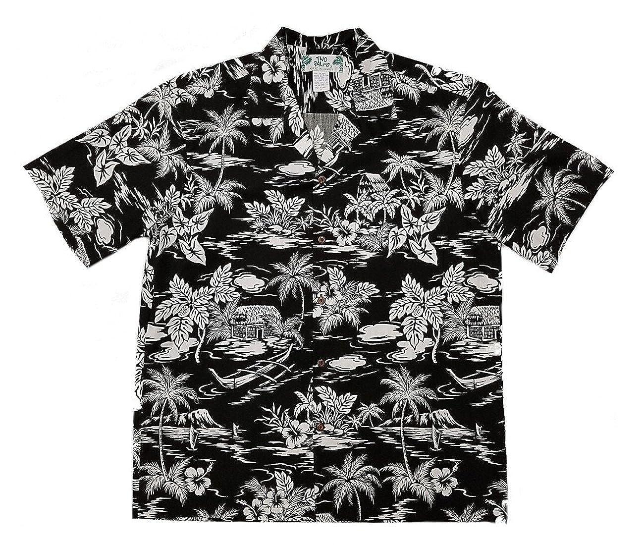 Two Palms Mens Love Shack Reverse Aloha Shirt