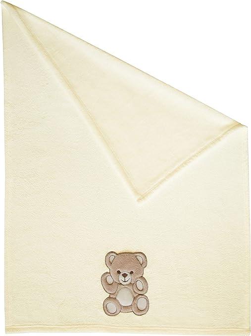 Zollner Manta para bebé, toquilla recién nacido, 100x75 cm, beige, otros colores: Amazon.es: Bebé
