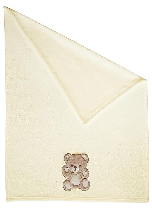 Zollner Manta para bebé, toquilla recién nacido, 100x75 cm, beige, otros colores