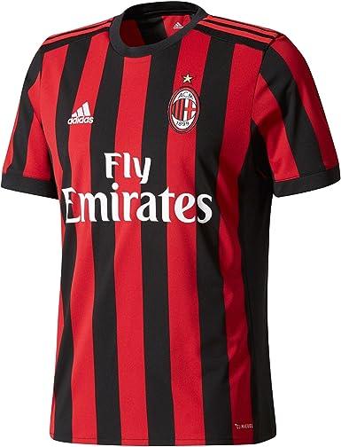 adidas ACM H JSY - Camiseta 1ª Equipación AC Milán Réplica 2017-2018 Hombre: MainApps: Amazon.es: Ropa y accesorios