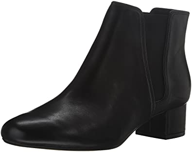 Clarks Women's Cala Jean Black Leather Boot 6 B ...