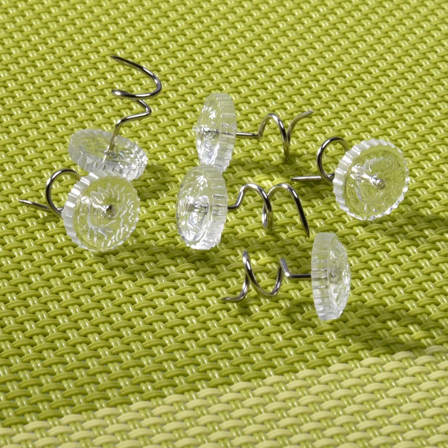 Honbay 100pcs Clear Plastic Head Twist Pins Upholstery Pin For